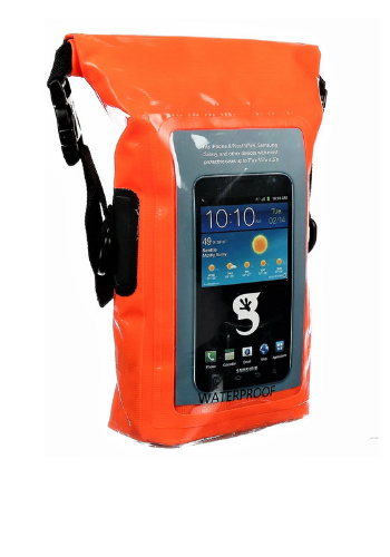 c618e1e105 Orange Waterproof Phone Tote Dry Bag - Totally Waterproof Containers